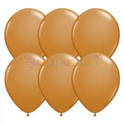Barna - világos 28 cm-es latex Qualatex party lufi
