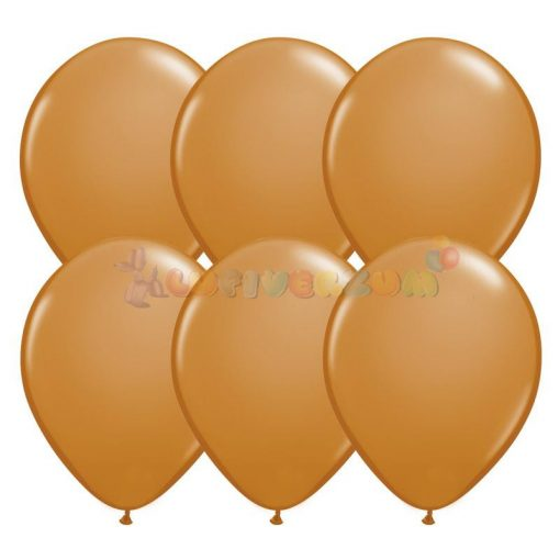 28 cm-es barna - világos latex Qualatex party Lufi Darabra
