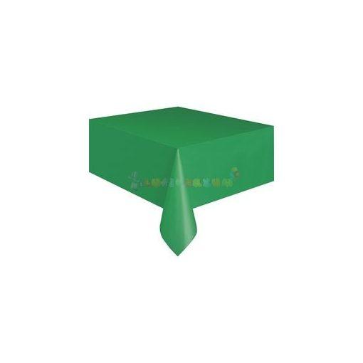 Zöld Műanyag Party Asztalterítő - 137 cm x 274 cm