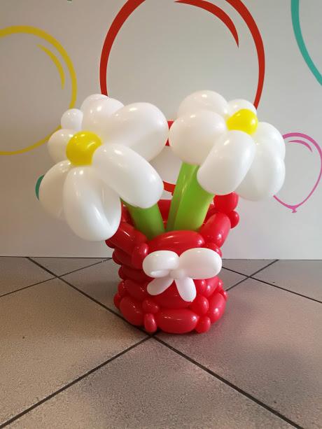 Lufi virág kaspóval