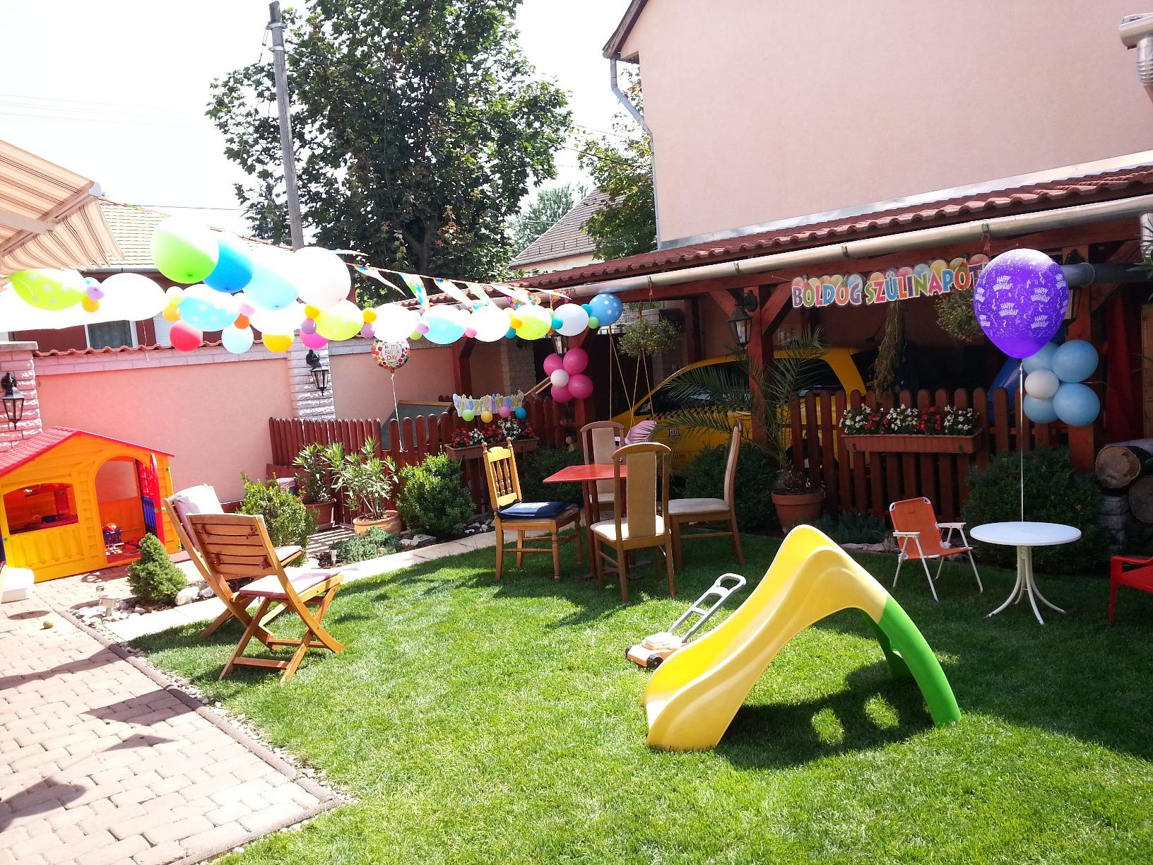 Kerti party dekoráció