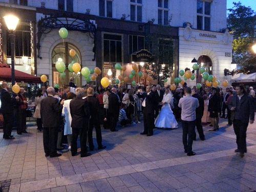 Esküvői léggömb felengedés - 100 darabos