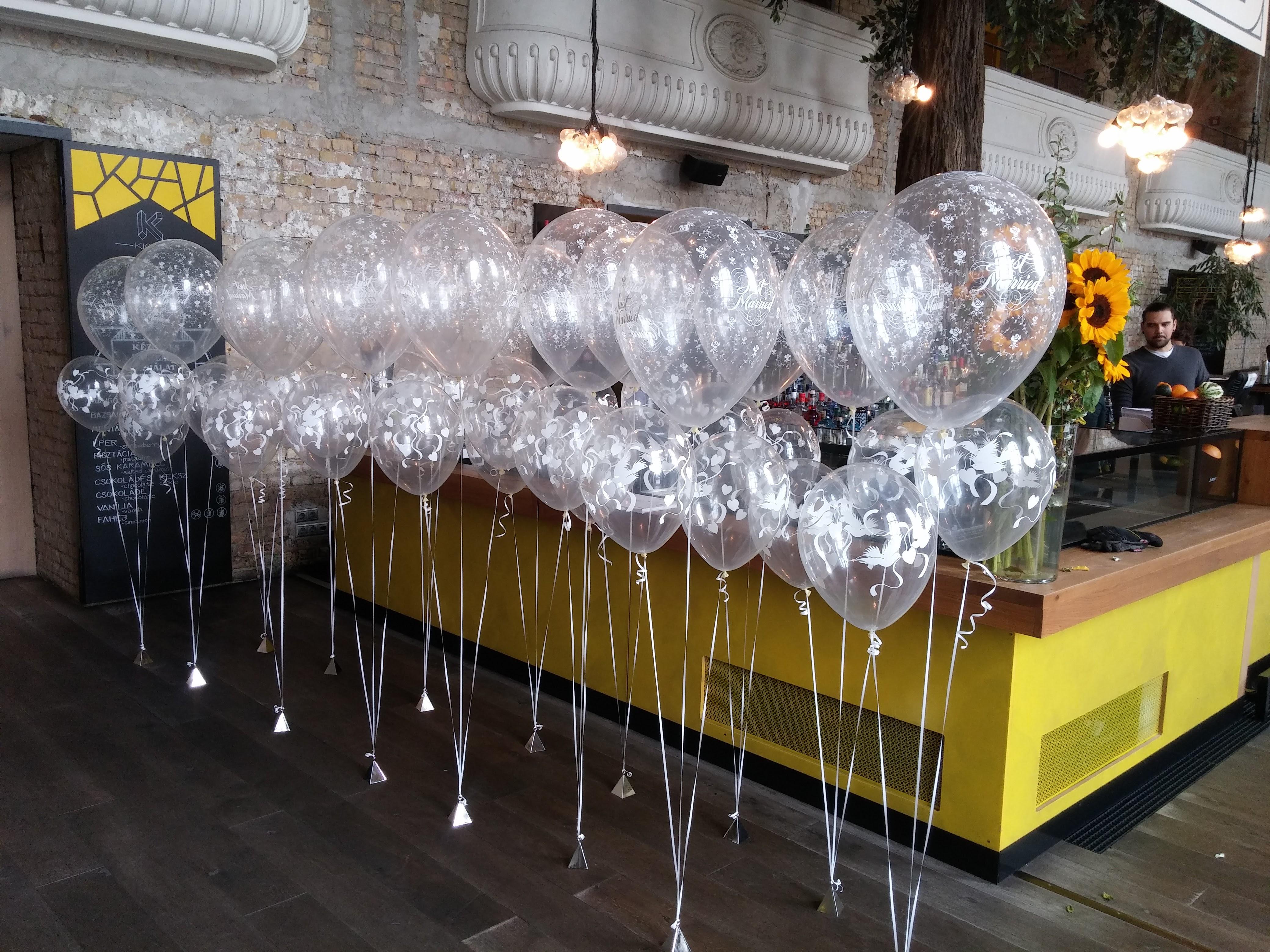 Kiosk - esküvői héliumos luficsokor