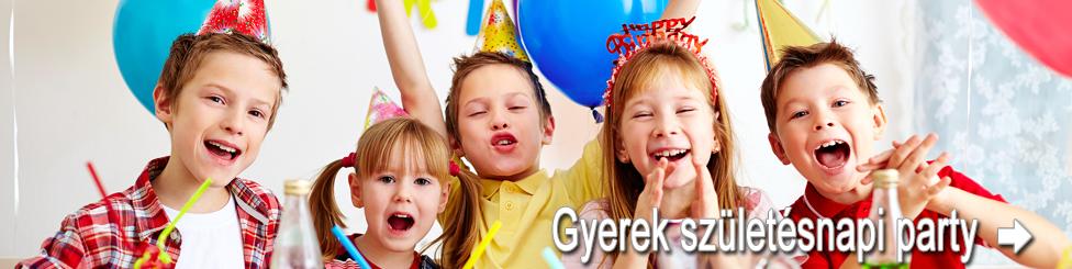 gyerek születésnapi party
